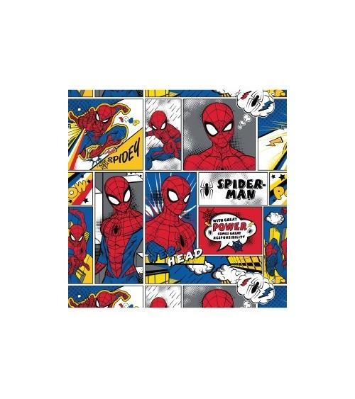 3131308-00 TESSUTO COT.cm110 Spiderman Comic Strip
