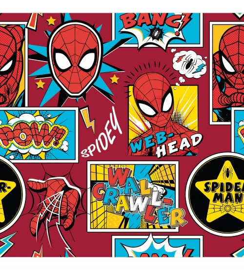 3131308-02 TESSUTO COT.cm110 Spiderman Box**
