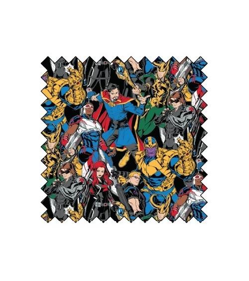 3132274-02 TESSUTO COT.cm110 Marvel Hero Villain