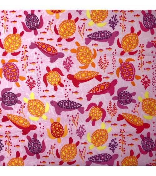 3132470-07 TESSUTO COT.cm110 Turtles Pink