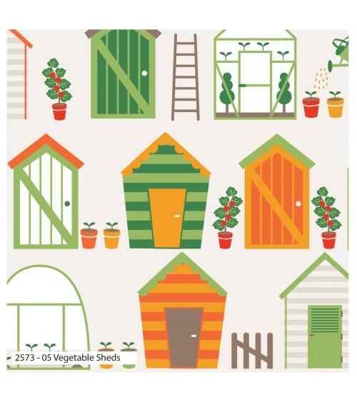 3132573-05 TESSUTO COT.cm110 Vegetable Sheds