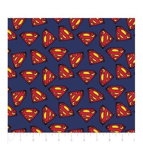 3132704-00 TESSUTO COT.cm110 Superman Logo