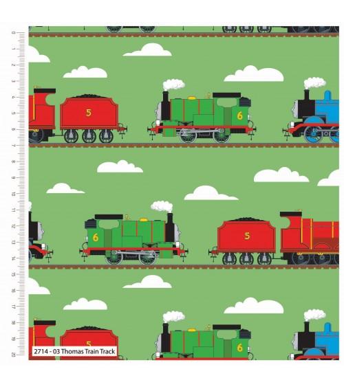 3132714-03 TESSUTO COT.cm110 Thomas Train Track