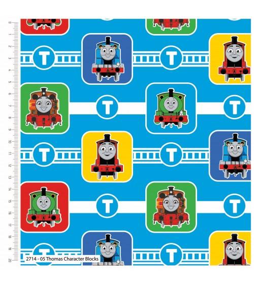 3132714-05 TESSUTO COT.cm110 Thomas Character