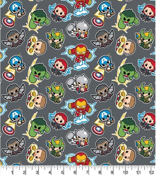 3132865-03 TESSUTO COT.cm110 Marvel Mini Heroes**