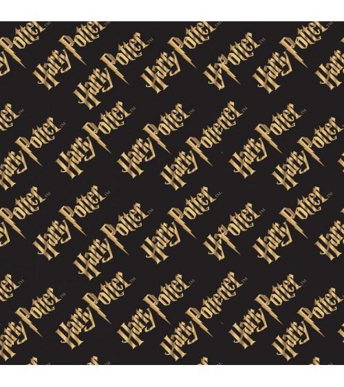 3132934-02 TESSUTO COT.cm110 Harry Potter Logo