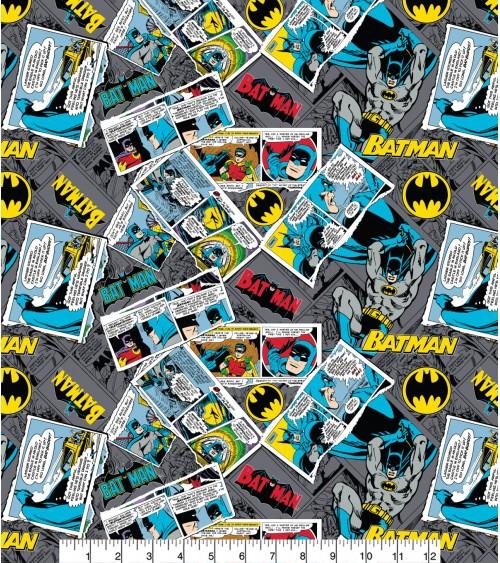 3132119-02 TESSUTO COT.cm110 Batman Collage