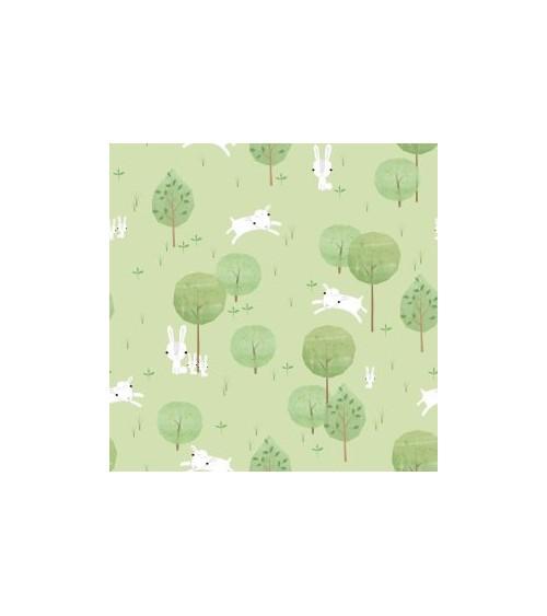 3132702-03 TESSUTO COT.cm110 Playful Farm Green