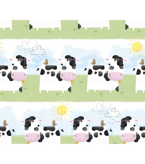 3132702-05 TESSUTO COT.cm110 Playful Farm Cows